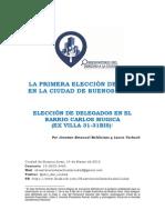 2015 - 02 - Marzo - 14 - Eleccines en El Barrio Carlos Mugica