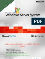 WebCast Alta Disponibilidad de SQL Server 2005