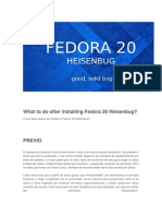 What to Do After Installing Fedora 20