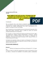Reglamento de Evaluación (Ens. Básica) Res. 511 - 2013 Con Las Sugerencias....