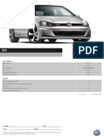 Ficha Técnica Golf GTI 2014
