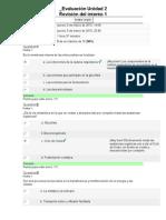 Evaluación Unidad 2 bioquimica