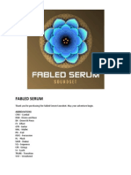 Fabled Serum User Guide