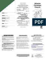 February 8, 2015 Trifold Bulletin
