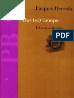 Dar (El) Tiempo I. La Moneda Falsa - Jacques Derrida - 1650