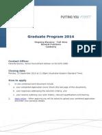 Comcare Graduate 2014