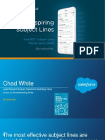 Salesforce 100 inspiring subject lines