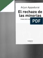 Appadurai, Arjun - El Rechazo de Las Minorias
