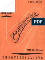 Jawa CZ 175 Type 501 Cezeta Parts List Manual 1958 (Ger)