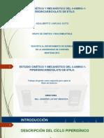 ESTUDIO CINÉTICO Y MECANÍSTICO DEL 4-AMINO-1-PIPERIDINCARBOXILATO DE ETILO