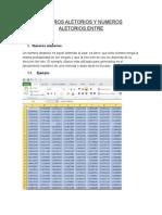 Numeros Aletorios y Numeros Aletorios