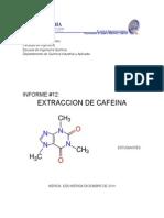 Informe Extraccion de Cafeina