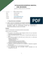 Programa de Actualización Didáctica. Tarea