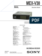 Service Manual DVD Sony MEX-V30