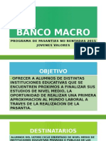 Programa de Pasantias Banco Macro