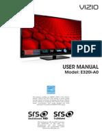 Vizio E320i-A0 User Manual