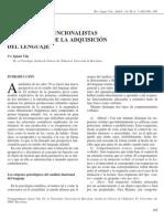 PERSPECTIVAS FUNCIONALISTAS EN EL ESTUDIO DE LA ADQUISICIÓN DEL LENGUAJE