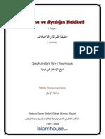 Bölünme ve Ayrılığın Hakikati -  ŞEYHULİSLAM İBN TEYMİYYE = Ebu Abdulmumin Tekin Mıhçı =.pdf
