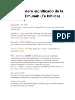 El Verdadero Significado de La Pistis y Emunah