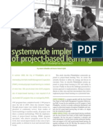 systemwide implementation of project-based learning
