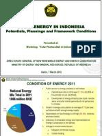 Solar Energy in Indonesia 2012