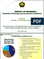 Solar Energy in Indonesia 2012
