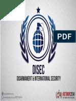 DISEC Disarmament & International Security, KIETMUN 2014
