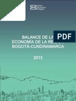 Balance Completo de Economía Región Bogota-Cundinamarca 2013.