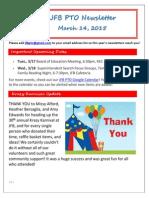 JFB PTO Newsletter 3-14-15