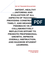 philosophy of teacher evaluation