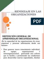 Aprendizaje en Las Organizaciones