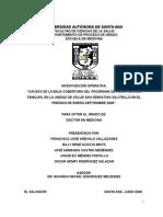 Bajas Coberturas Programa de P.F. San Sebastián Salitrillo Ene-sep 2008
