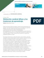 Disfunción Cerebral Difusa y Los Trastornos de Aprendizaje