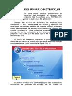 Manual Del Usuario Metrixx_VR V2.0
