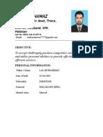 Nadeem Nawaz Cv