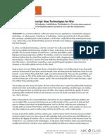 Eysturlid - Transcript New Technologies for War