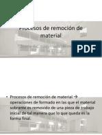 Procesos de Remocion de Material-libre