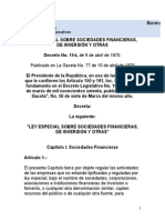 Special Law on Financial Societies Investment Societies and Others Decree No. 15 L