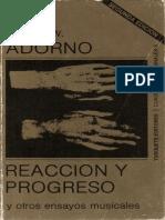 Adorno Theodor w Reaccion y Progreso(1)