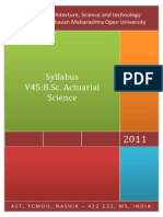 YCMOU-AST Syllabus V45 BScActuarial Science