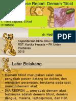 Case Report - Demam Tifoid