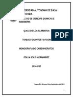 CARBOHIDRATOS monografia