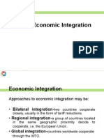 Regional Agreements and Integration