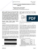 Structure and a Detailed Analysis of Various Simulation Results of CNTFET