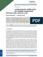A Bayesian Semiparametric Multivariate Joint Model