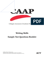 Act 2008 Act Caap Writing Skills Questions From Act Writingskills