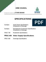 DesignManual Specifications PRSC400Series 401WaterMainPressurePipelineConstruction