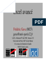 Cours Excel Avance