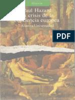 Hazard, Paul - La Crisis de La Conciencia Europea Alianza Ed. 1988