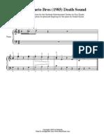 Mario Sheet Music Death Sound